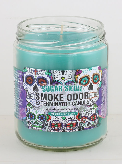 Smoke Odor Jar Sugar Skull 13 Oz