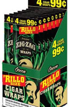 Zig Zag Rillo 4/.99 Green 15 Ct
