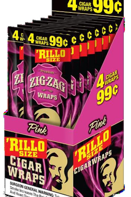 Zig Zag Rillo 4/.99 Purple 15 Ct