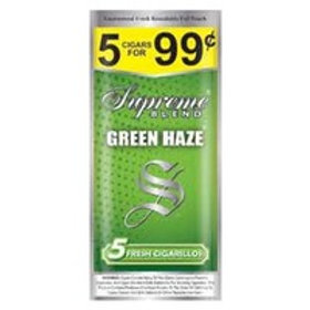 Supreme Cigaril Green Haze 5/.99 15