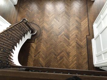 Herringbone Floor by Oldfield Flooring