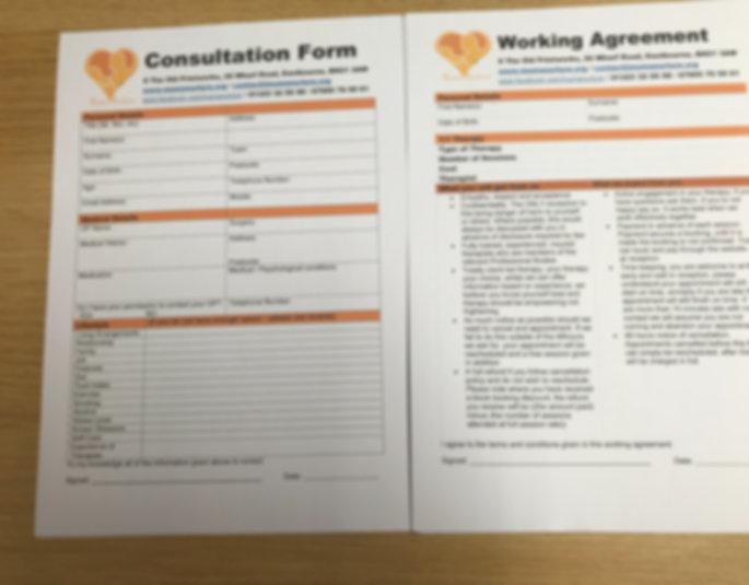 Client Consulation Form