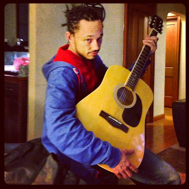 Instagram - Brova copped a guitar !! Now I gotta teach myself how ta play it !!