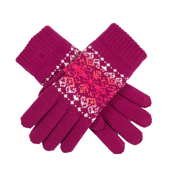 Dents Ombre Fairisle knitted gloves
