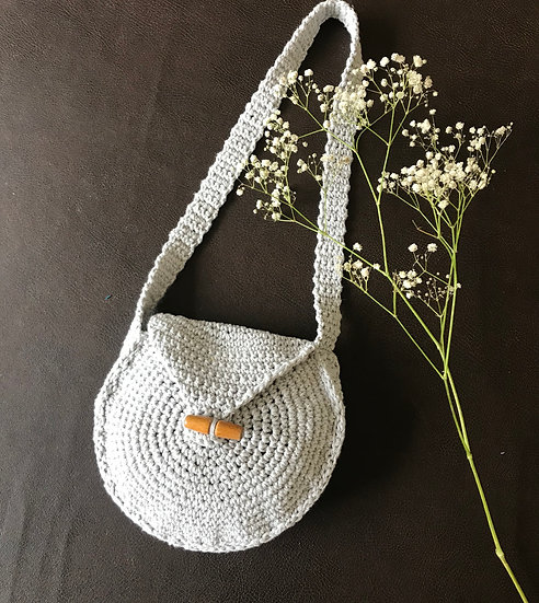 Crocheted summer shoulder bag