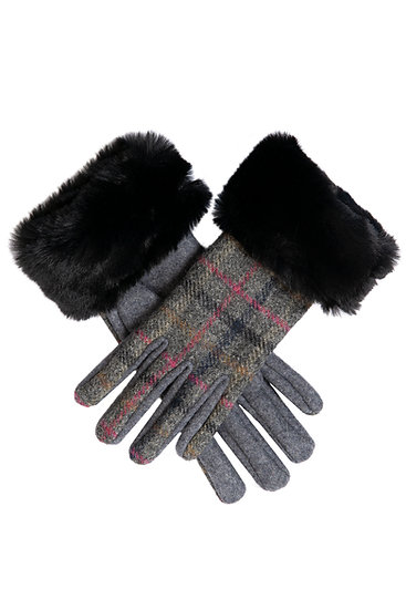 Dents glove made from the finest wool with faux fur cuff