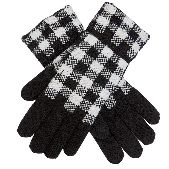 Dents knitted very smart checked gloves