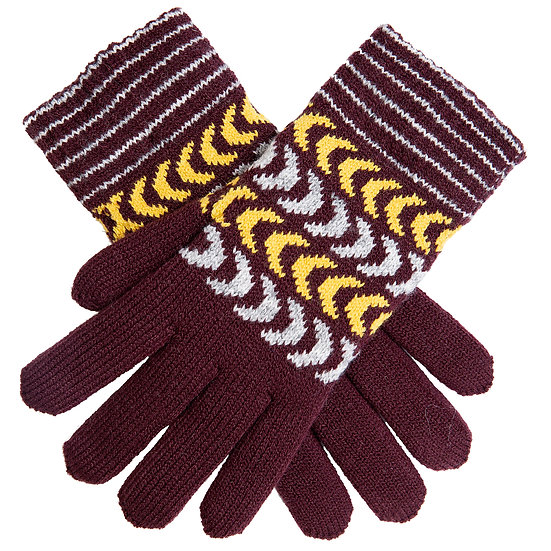 Dents knitted glove with chenille lining