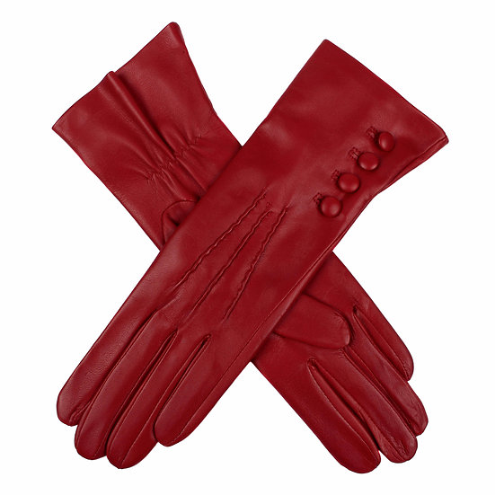 Dents 'Rose' ladies leather 4 button silk lined glove