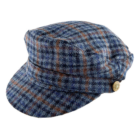 Dents Fiddlers style cap made from Abraham Moon tweed