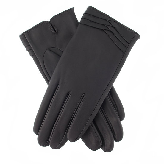 Dents 'Katrina' ladies leather glove with fold cuff detail