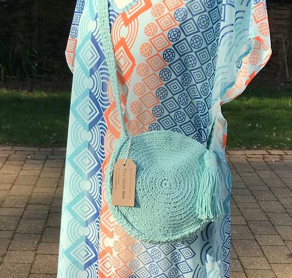 SM/Med crochet cotton summer bag