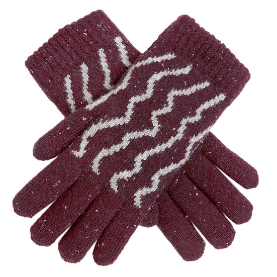 Dents Plum knitted glove