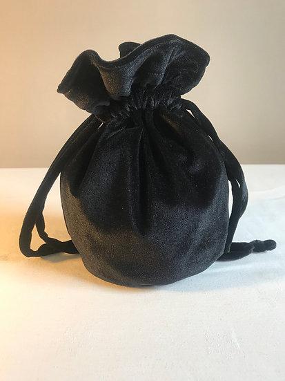 Velour evening bag