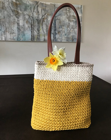 Crocheted summer hand or shoulder bag