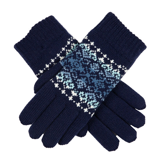 Dents knitted chenille lined gloves.