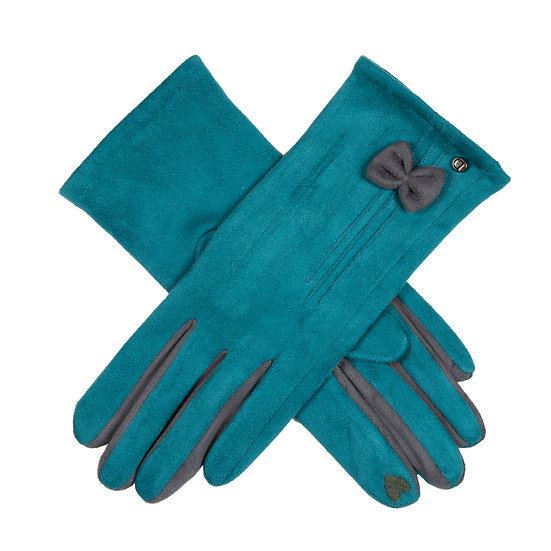 Dents Petrol and charcoal neat glove with ' touchscreen ' facility