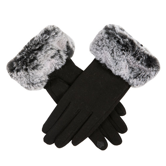 Dents Thermal 'touchscreen' gloves with a super soft faux fur cuff