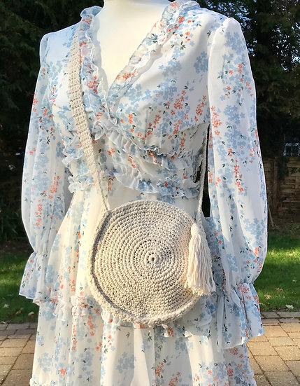 Sm/Medium crochet cotton summer bag