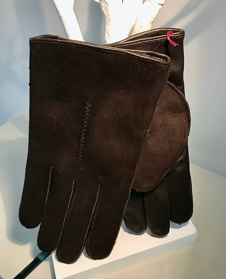 Mens Touchscreen Leather and sheepskin glove