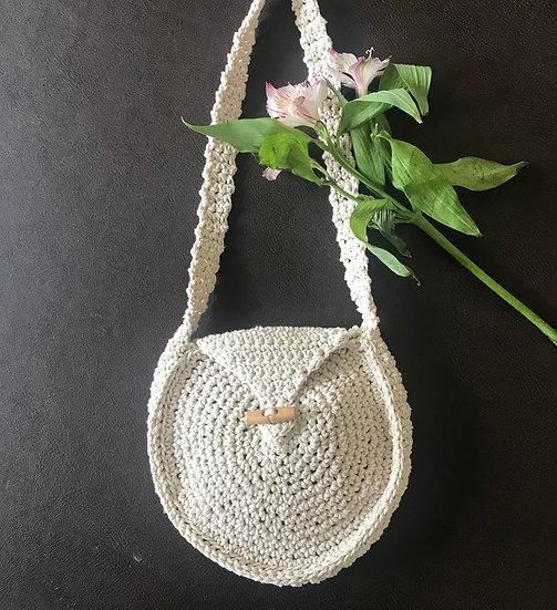 Crocheted shoulder summer bag