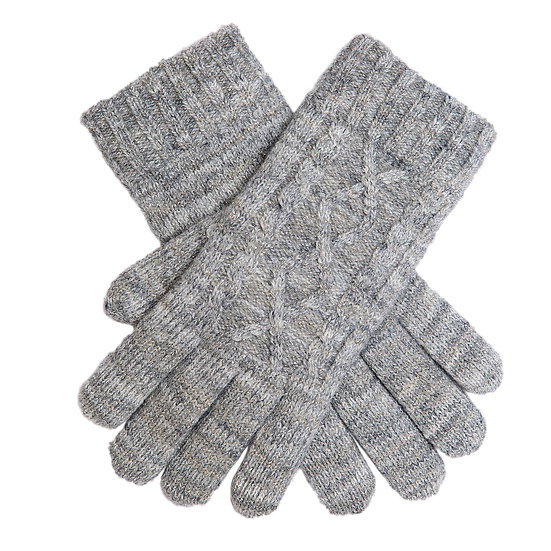 Dents knitted glove in Dove grey