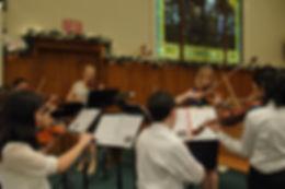 Kathy's students violin recital.
