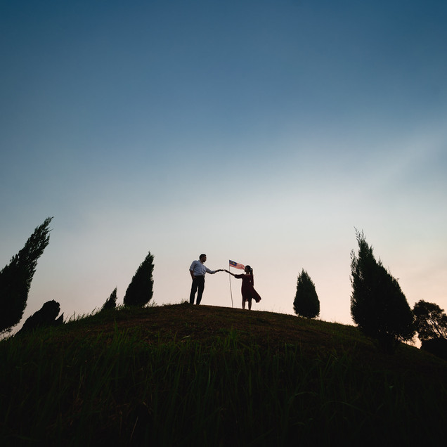 """Fiona + KT's Engagement at Putrajaya""""Lovely bird in the wood""""  """