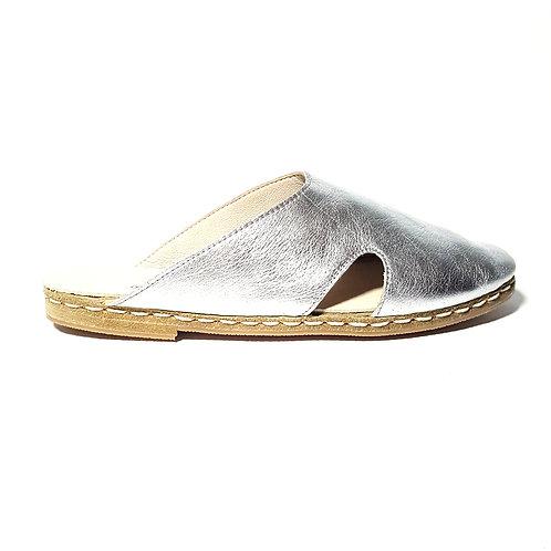 Antalya Mules Silver