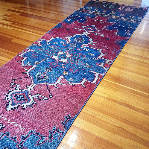 Vintage Turkish Oushak  Rug Runner TVR9191903
