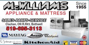 MCWILLIAMS APPLIANCE & MATTRESS
