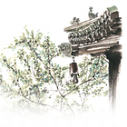 —Pngtree—temple spring ink painting png_