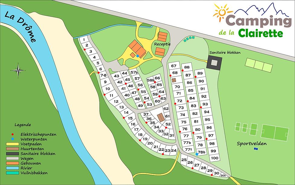 Plan du camping de la clairette