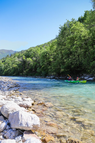 Descente de la Drôme en canoë