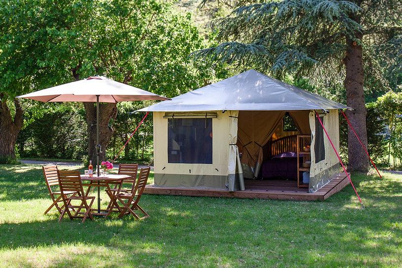 Tente Pitrou au camping de la clairette