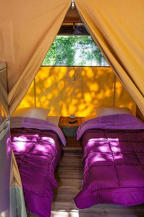 Chambre 2 lits simples, tente Pitrou