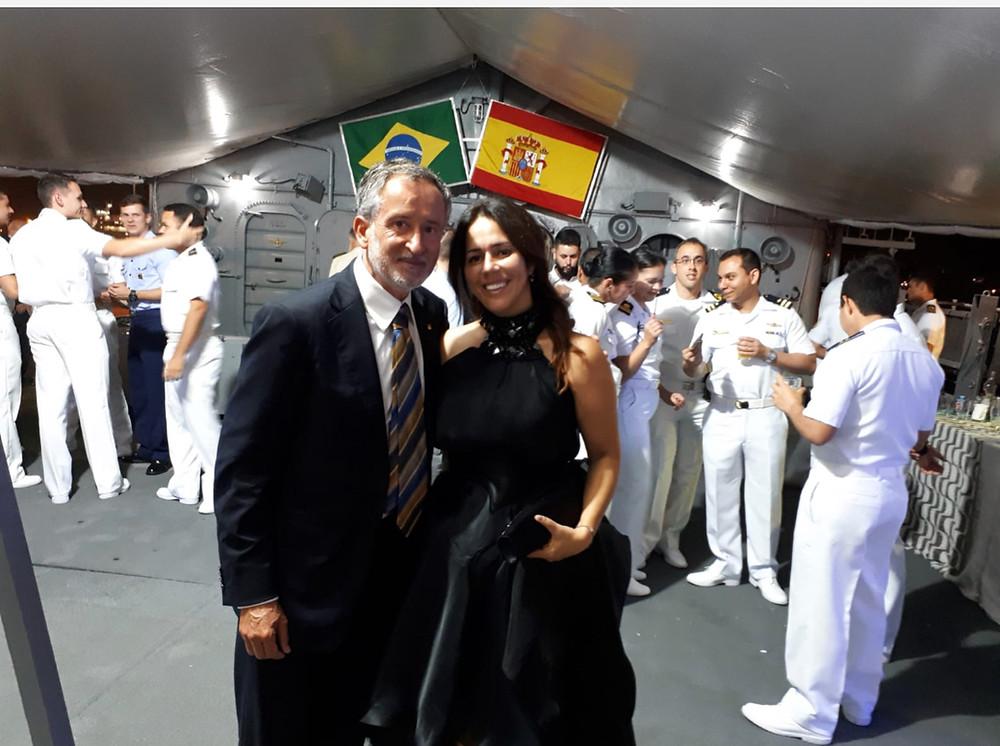 VICENTE SORIANO, LUCIANA BRITO, FUNDACIÓN BRITO, CÓNSUL BRASIL, BUQUE ESCUELA DE BRASIL
