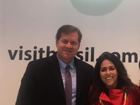 El Ministro de Turismo de Brasil y Luciana Brito reunidos en Madrid.