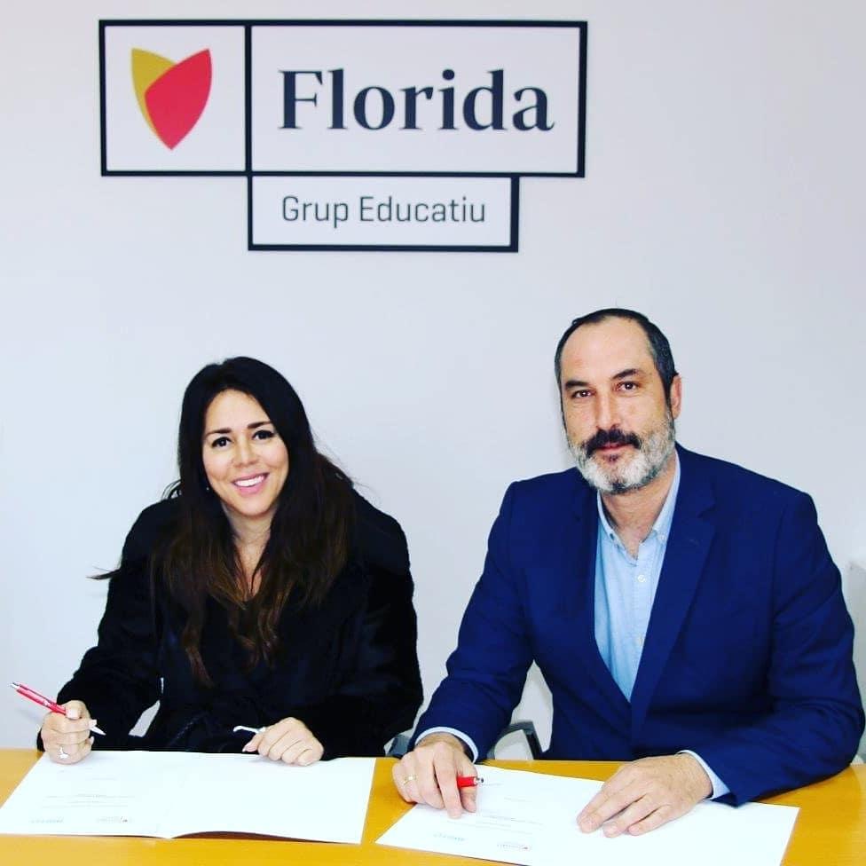 LUCIANA BRITO Y ENRIQUE GARCÍA FIRMAN CONVENIO ENTRE FUNDACIÓN BRITO Y FLORIDA UNIVERSITARIA