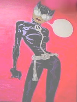 Original Acrylic of Catwoman