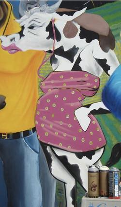 Original Cow Mural