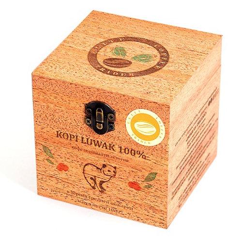 Кофе Копи Лювак в зёрнах, средняя обжарка, в деревянной шкатулке, 100 г