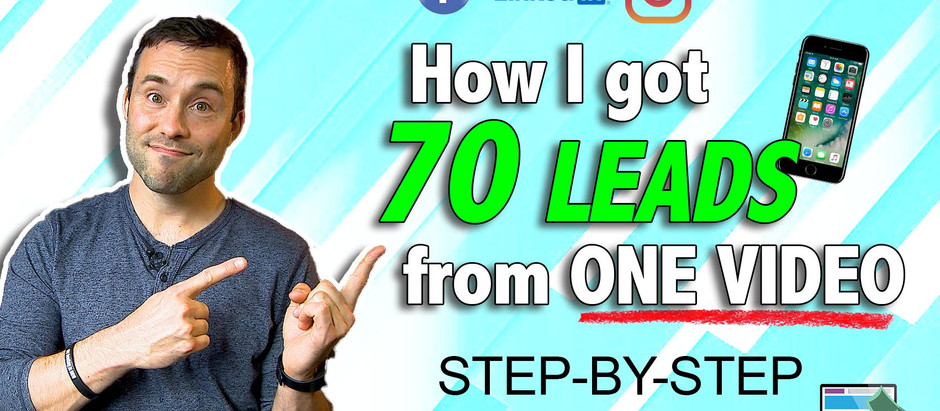 How I got 70 coaching leads off of one video post