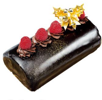 クリスマスチョコロールケーキ