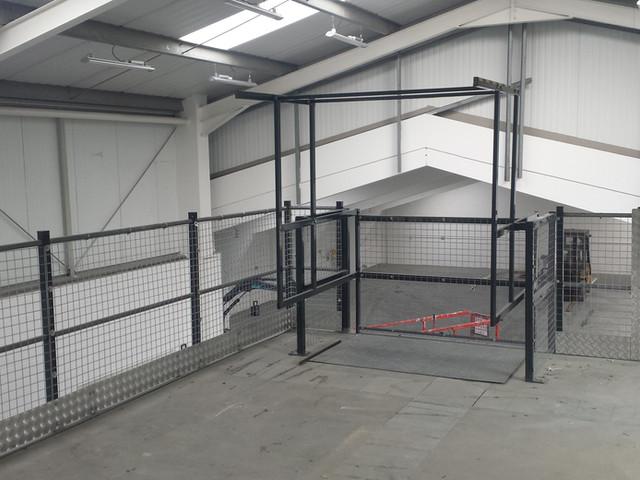 Warehouse Safety Handrail