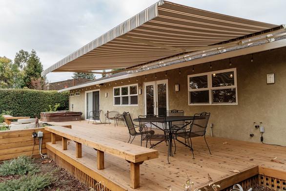 Motorized Retractable Awning | Sunbrella Fabric in Preston Stone | Window-ology | Pleasanton, CA