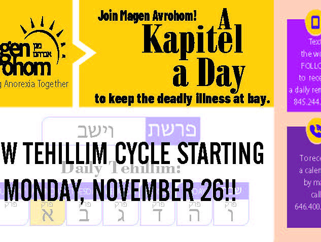 TEHILLIM- PEREK A DAY PROGRAM
