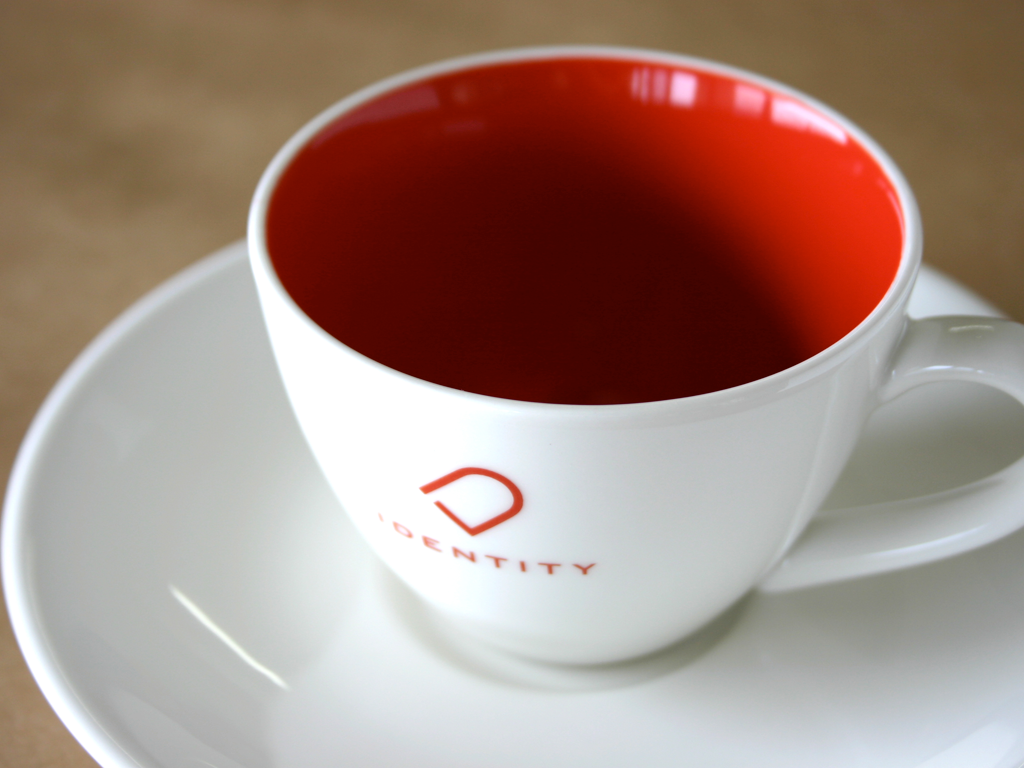 IDENTITY cup & saucer