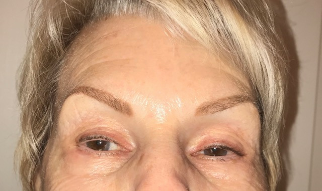after tattooed brows