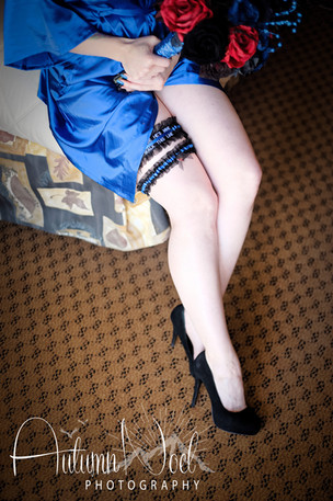 blue and red garter